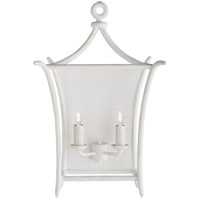 Visual Comfort JN2612PW Julie Neill Aria 2 Light 14 inch Plaster White Wall Sconce Wall Light, Large