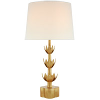 Julie Neill Alberto 32 inch 100 watt Antique Gold Leaf Table Lamp Portable Light, Large