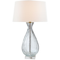 Julie Neill Treviso 30 inch 100 watt Clear Glass Table Lamp Portable Light, Large