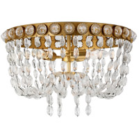 Visual Comfort JN4121G/CG Julie Neill Navona 3 Light 18 inch Gild and Crystal Flush Mount Ceiling Light Medium Basket