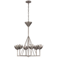 Julie Neill Alberto 6 Light 30 inch Burnished Silver Leaf Chandelier Ceiling Light, Small Single Tier