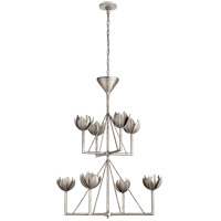 Visual Comfort JN5005BSL Julie Neill Alberto 8 Light 34 inch Burnished Silver Leaf Chandelier Ceiling Light, Medium