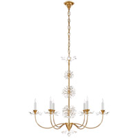 Visual Comfort JN5015G-CG Julie Neill Aspra 6 Light 34 inch Gild Chandelier Ceiling Light, Medium