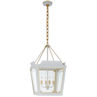 Visual Comfort JN5020SW/G-CG Julie Neill Caddo 4 Light 19 inch Soft White and Gild Lantern Pendant Ceiling Light, Medium