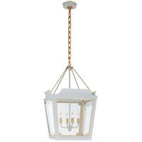 Visual Comfort JN5020SW/G-CG Julie Neill Caddo 4 Light 17 inch Soft White and Gild Lantern Pendant Ceiling Light, Medium