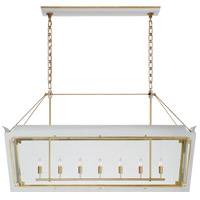 Visual Comfort JN5025SW/G-CG Julie Neill Caddo 7 Light 56 inch Soft White and Gild Linear Lantern Pendant Ceiling Light Large