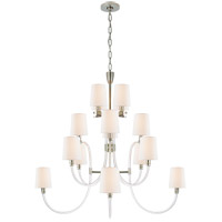 Visual Comfort JN5030CG/PN-L Julie Neill Clarice 16 Light 43 inch Crystal and Polished Nickel Chandelier Ceiling Light, Large