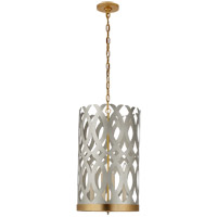 Visual Comfort JN5045BSL/G Julie Neill Ingrid 4 Light 15 inch Burnished Silver Leaf and Gild Chandelier Ceiling Light, Tall
