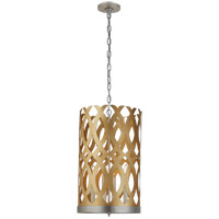 Visual Comfort JN5045G/BSL Julie Neill Ingrid 4 Light 15 inch Gild and Burnished Silver Leaf Chandelier Ceiling Light, Tall