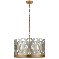 Visual Comfort JN5046BSL/G Julie Neill Ingrid 6 Light 24 inch Burnished Silver Leaf and Gild Chandelier Ceiling Light