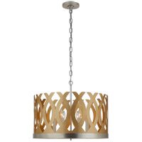Visual Comfort JN5046G/BSL Julie Neill Ingrid 6 Light 24 inch Gild and Burnished Silver Leaf Chandelier Ceiling Light