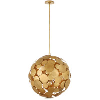 Visual Comfort JN5063GI Julie Neill Luna 16 Light 22 inch Gilded Iron Chandelier Ceiling Light, Medium