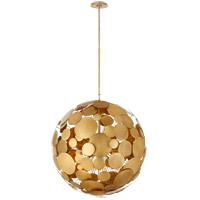 Visual Comfort JN5064GI Julie Neill Luna 16 Light 30 inch Gilded Iron Chandelier Ceiling Light, Large