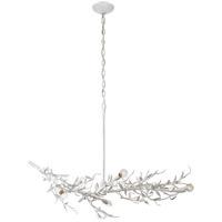 Visual Comfort JN5070PW Julie Neill Mandeville 6 Light 42 inch Plaster White Linear Chandelier Ceiling Light