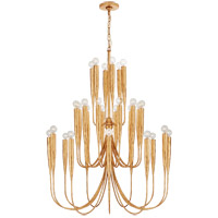 Visual Comfort JN5072AGL Julie Neill Acadia 30 Light 33 inch Antique Gold Leaf Chandelier Ceiling Light, Large photo thumbnail