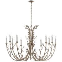 Visual Comfort JN5080BSL Julie Neill Silva 12 Light 48 inch Burnished Silver Leaf Chandelier Ceiling Light