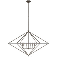 Visual Comfort JN5091AI Julie Neill Afton 6 Light 49 inch Aged Iron Lantern Pendant Ceiling Light Grande
