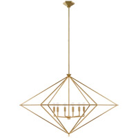 Visual Comfort JN5091G Julie Neill Afton 6 Light 49 inch Gild Lantern Pendant Ceiling Light Grande