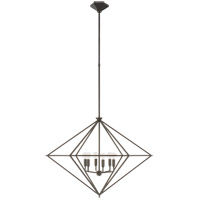 Visual Comfort JN5092AI Julie Neill Afton 6 Light 34 inch Aged Iron Lantern Pendant Ceiling Light Large