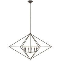 Visual Comfort JN5093AI Julie Neill Afton 6 Light 49 inch Aged Iron Linear Lantern Pendant Ceiling Light Grande