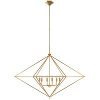 Visual Comfort JN5093G Julie Neill Afton 6 Light 49 inch Gild Linear Lantern Pendant Ceiling Light Grande