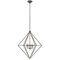 Visual Comfort JN5096AI Julie Neill Afton 6 Light 29 inch Aged Iron Elongated Lantern Ceiling Light Medium