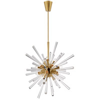 Visual Comfort JN5119AB/CA Julie Neill Chiara 18 Light 32 inch Antique-Burnished Brass and Clear Acrylic Chandelier Ceiling Light Large Sputnik