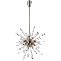 Julie Neill Chiara 18 Light 32 inch Polished Nickel and Clear Acrylic Chandelier Ceiling Light, Large Sputnik