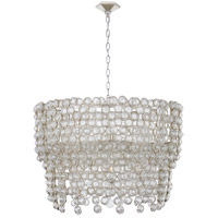 Visual Comfort JN5232BSL Julie Neill Milazzo 12 Light 36 inch Burnished Silver Leaf and Crystal Chandelier Ceiling Light, Large
