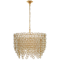 Visual Comfort JN5234G/CG Julie Neill Milazzo 8 Light 29 inch Gild and Crystal Chandelier Ceiling Light, Medium Waterfall