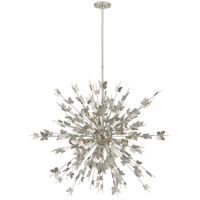 Visual Comfort JN5502BSL Julie Neill Farfalle 18 Light 41 inch Burnished Silver Leaf Chandelier Ceiling Light, Large