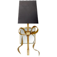 Visual Comfort KS2008SB-B Kate Spade New York Ellery 1 Light 5 inch Soft Brass Gros-Grain Bow Sconce Wall Light Small