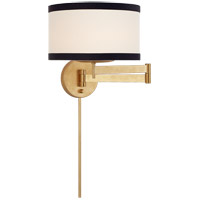 Visual Comfort KS2075G-L/BL Kate Spade New York Walker 25 inch 60 watt Gild Swing Arm Sconce Wall Light