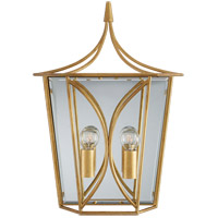 Visual Comfort KS2143G Kate Spade New York Cavanagh 2 Light 12 inch Gild Lantern Sconce Wall Light Medium