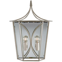 Visual Comfort KS2143PN Kate Spade New York Cavanagh 2 Light 12 inch Polished Nickel Lantern Sconce Wall Light Medium