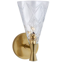 Visual Comfort KS2300SB-CG Kate Spade New York Darcy2 1 Light 6 inch Soft Brass Single Sconce Wall Light