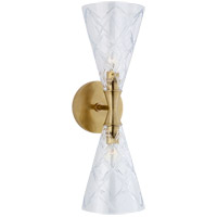 Visual Comfort KS2302SB-CG Kate Spade New York Darcy2 2 Light 6 inch Soft Brass Double Sconce Wall Light