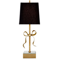 Visual Comfort KS3111SB-BL Kate Spade New York Ellery 23 inch 60 watt Soft Brass Gros-Grain Bow Table Lamp Portable Light