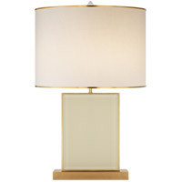 Brass and Cream Table Lamps