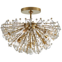 Visual Comfort KS4005SB-CG Kate Spade New York Dickinson 9 Light 22 inch Soft Brass Semi-Flush Mount Ceiling Light Medium
