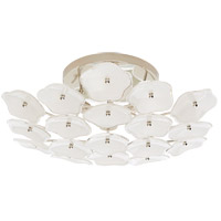 Visual Comfort KS4065PN-CRE Kate Spade New York Leighton 3 Light 20 inch Polished Nickel Flush Mount Ceiling Light Medium