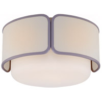 Visual Comfort KS4081PN/WG-L/LLC Kate Spade New York Eyre 1 Light 13 inch Polished Nickel and Soft White Glass Flush Mount Ceiling Light Medium