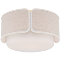 Visual Comfort KS4081SB/WG-NL/CRE Kate Spade New York Eyre 1 Light 13 inch Soft Brass and Soft White Glass Flush Mount Ceiling Light Medium
