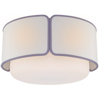 Visual Comfort KS4082PN/WG-L/LLC Kate Spade New York Eyre 1 Light 18 inch Polished Nickel and Soft White Glass Flush Mount Ceiling Light Large