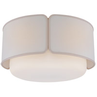 Visual Comfort KS4082SB/WG-L/CRE Kate Spade New York Eyre 1 Light 18 inch Soft Brass and Soft White Glass Flush Mount Ceiling Light Large