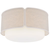 Visual Comfort KS4082SB/WG-NL/CRE Kate Spade New York Eyre 1 Light 18 inch Soft Brass and Soft White Glass Flush Mount Ceiling Light Large