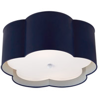 Visual Comfort KS4117NVY/WHT-FA Kate Spade New York Bryce 2 Light 15 inch French Navy and White Flush Mount Ceiling Light Medium