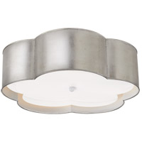 Visual Comfort KS4118BSL/WHT-FA Kate Spade New York Bryce 4 Light 20 inch Burnished Silver Leaf and White Flower Flush Mount Ceiling Light Large