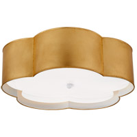Visual Comfort KS4118G/WHT-FA Kate Spade New York Bryce 4 Light 20 inch Gild and White Flower Flush Mount Ceiling Light Large