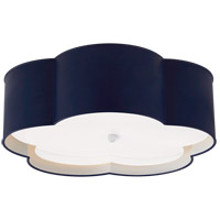 Visual Comfort KS4118NVY/WHT-FA Kate Spade New York Bryce 4 Light 20 inch French Navy and White Flower Flush Mount Ceiling Light Large